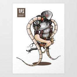 Tentacle Man Art Print