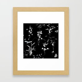 Plants & Paper clips Photogram Framed Art Print