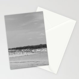 Assateague Island panoramic (black and white) Stationery Cards