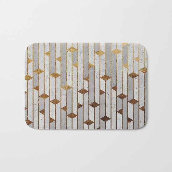 Concrete Skyscrapers Bath Mat