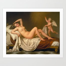 Danaë and the Shower of Gold by Adolf Ulrik Wertmüller Art Print