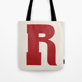 Woodtype Typographic Letter R Tote Bag