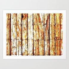 Golden Wood Art Print