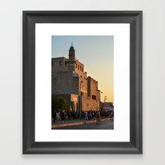 Yafo port 2 Framed Art Print