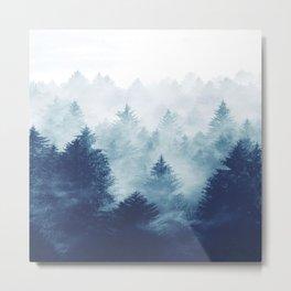 Foggy Woods I Metal Print
