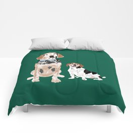Virgil and Peanut Butter Comforters