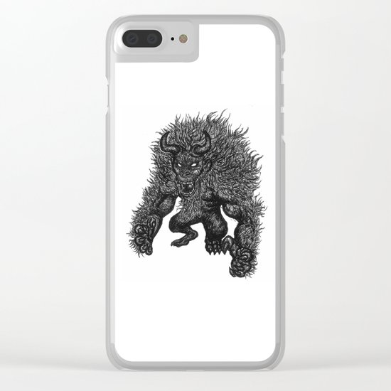 Primate's Wrath. Clear iPhone Case