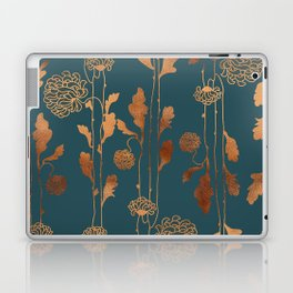 Art Deco Copper Flowers  Laptop & iPad Skin