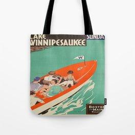 Vintage poster - Lake Winnipesaukee Tote Bag