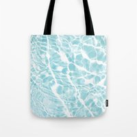 pool Tote Bags featuring Pool by Claire Jantzen