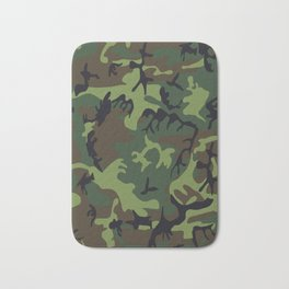 Military camouflage,soldiers pattern decor. Bath Mat