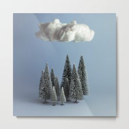 A cloud over the forest Metal Print