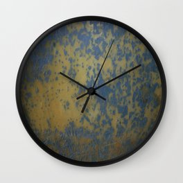 Bottom's Up Series Blue and Yellow Wall Clock