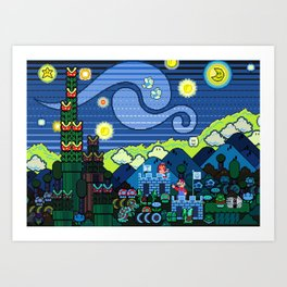 Super Starry Night Art Print