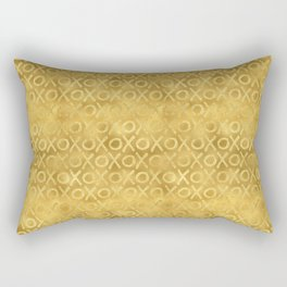 Gold Glam XOXO Rectangular Pillow