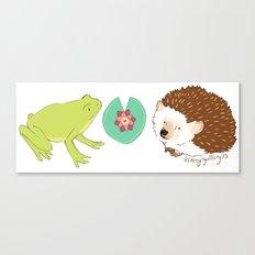 Hedgehog and Frog Canvas Print