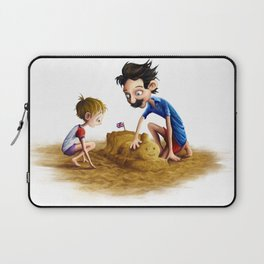 Father and Son at the Beach Laptop Sleeve