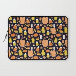 Cozy fall illustration, navy Laptop Sleeve