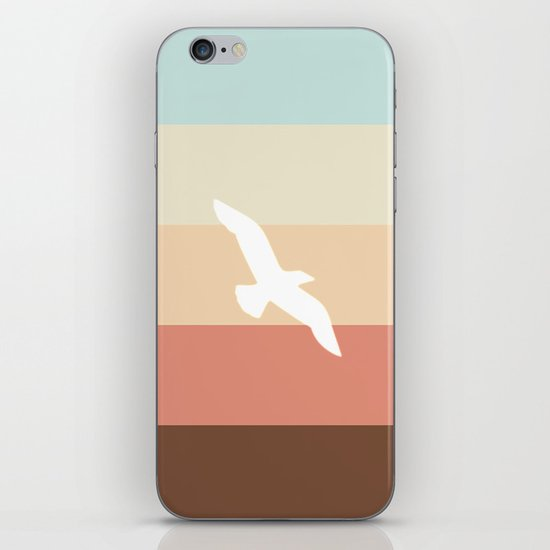 Out At Sea Series - Sun, Sand and Seagulls iPhone Skin
