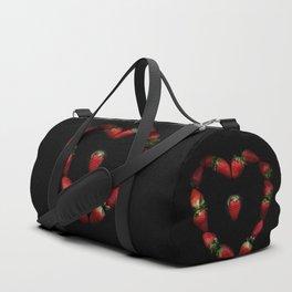 Heart of strawberries Duffle Bag