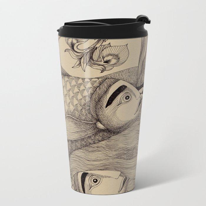 The Golden Fish (1) Metal Travel Mug