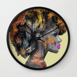 Afro-Girl Wall Clock
