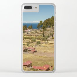 Houses of Local Peruvian People Living on Taquile Island, Peru Clear iPhone Case