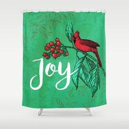 Cardinal Joy Shower Curtain