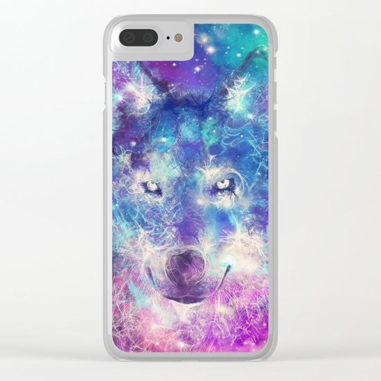wolf 1 Clear iPhone Case