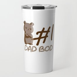 #1 Bad Bud Bears Forest Wildlife Grizzly Bear Wilderness Wild Animal Lovers Gifts Travel Mug