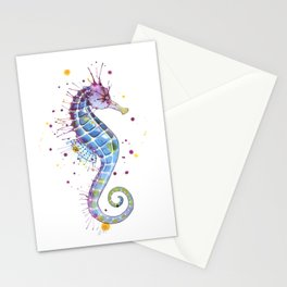 Seahorse: Purple Stationery Cards