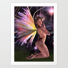 Cosmic Lights Fairy Art Print