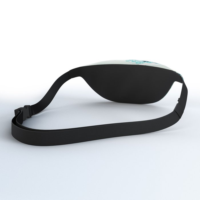the great wave : aqua teal Fanny Pack