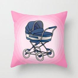 Bay stroller / buggy Throw Pillow