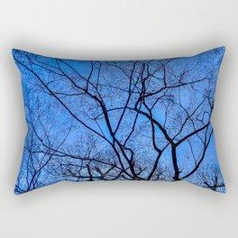 Blue Winter Rectangular Pillow