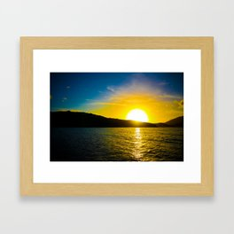 Sunset over the Sea Framed Art Print
