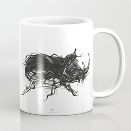 Beetle 1. Black on white background Coffee Mug