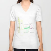 periodic table V-neck T-shirts featuring table by Pola Popova