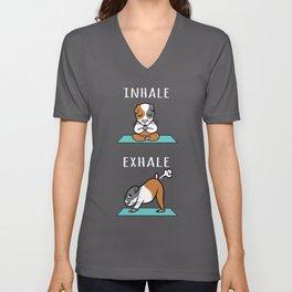 Guinea Pig Yoga Inhale Exhale Unisex V-Neck
