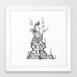 Ghost Punk Framed Art Print