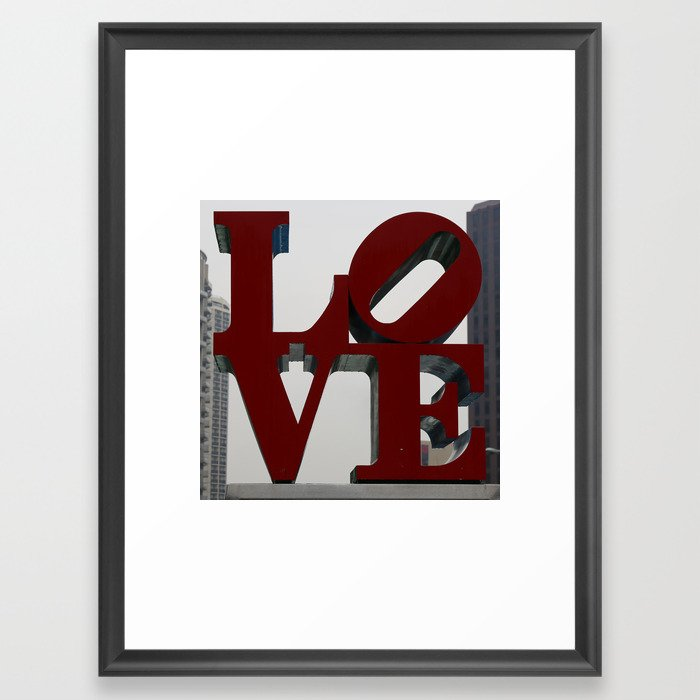 Love Philadelphia Sculpture Framed Art Print by Christine aka stine1