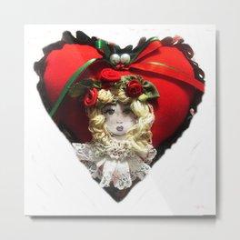 Christmas Heart Metal Print