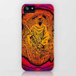 Psychedelic Grim Reaper iPhone Case