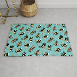Bees and More Bees Rug