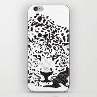 leopard iPhone & iPod Skins featuring Leopard  by Karen Hischak