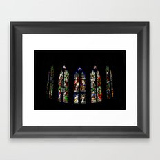 Stained Glass Windows, Beaune Cathedral Framed Art Print