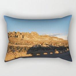 Sunset with shades and lamas Rectangular Pillow