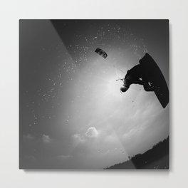 Fabrice Kiteboarding Noirmoutier - Square version Metal Print