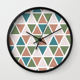 Triangles 2 Wall Clock