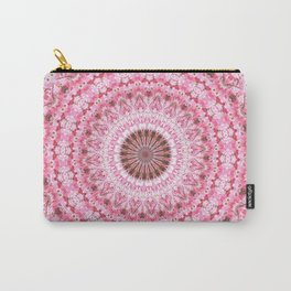 PRETTY PINK SPRING FLOWERS MANDALA Carry-All Pouch
